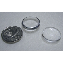 Cabochon round 20 mm, Clear Crystal